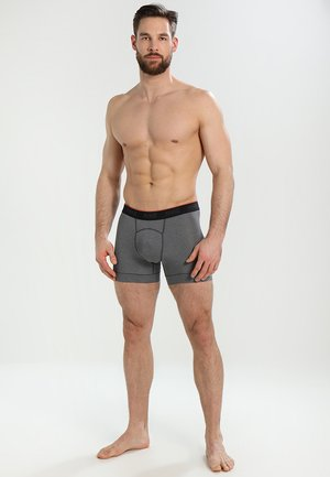 BRIEF BOXER 2 PACK - Pants - anthracite/black/white