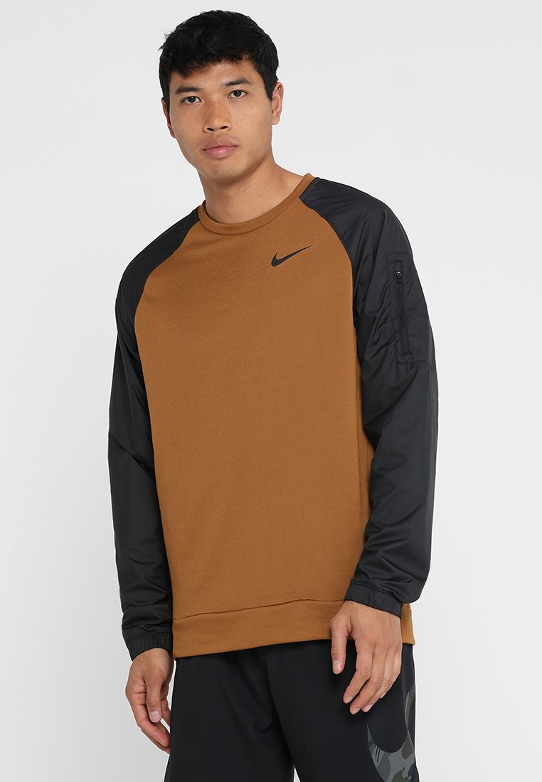 Nike Performance - DRY CREW UTILITY CORE - Sweatshirt - ale brown/black/black