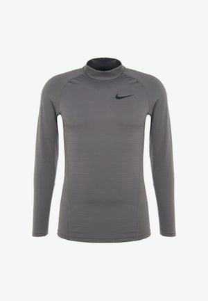 THRMA MOCK - T-shirt de sport - gunsmoke/black