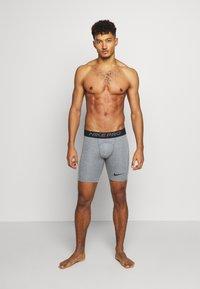Nike Performance - SHORT - Panties - smoke grey/light smoke grey/black - 0