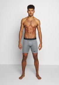 Nike Performance - SHORT - Panties - smoke grey/light smoke grey/black - 1