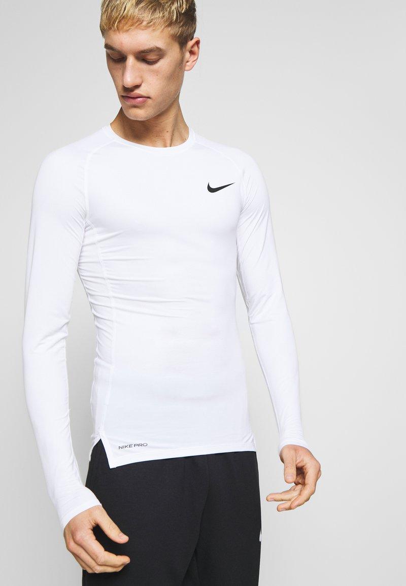 Nike Performance - TIGHT - Funktionsshirt - white/black