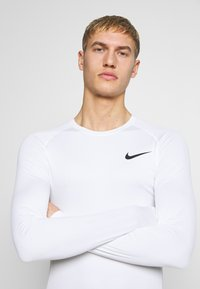 Nike Performance - TIGHT - Funktionsshirt - white/black - 3
