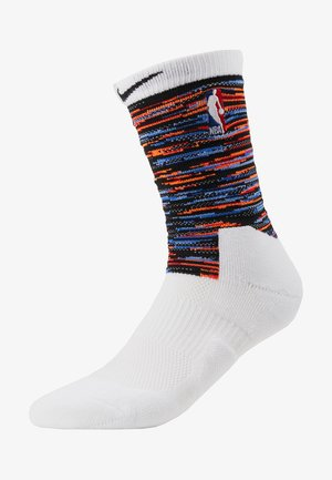 NBA BROOKLYN NETS CITY EDITION CREW SOCK - Träningssockor - white/black