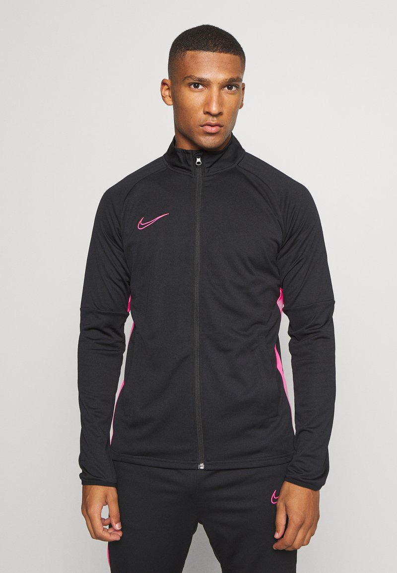 Nike Performance - DRY ACADEMY SUIT - Tracksuit - black/hyper pink