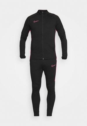 DRY ACADEMY SUIT - Tracksuit - black/hyper pink