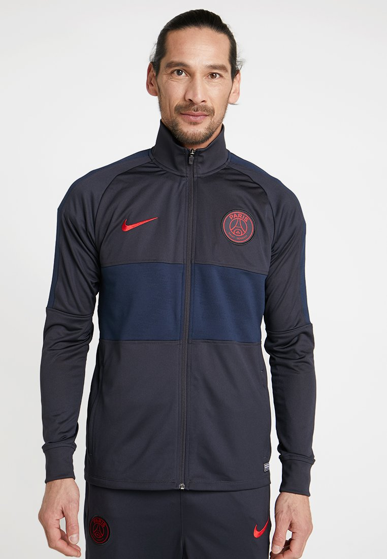 Nike Performance - PARIS ST GERMAIN DRY SUIT - Squadra - oil grey/obsidian/university red