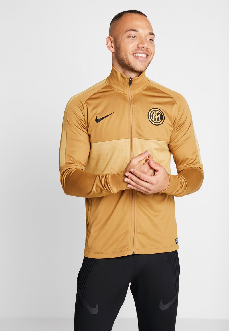 Nike Performance - INTER MAILAND DRY SUIT SET - Klubbkläder - muted bronze/black/truly gold