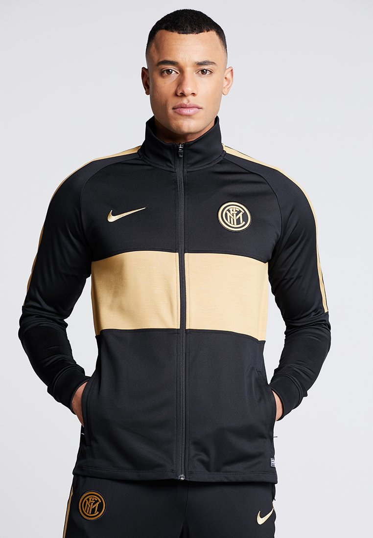 Nike Performance - INTER MAILAND DRY SUIT  - Chaqueta de entrenamiento - black/truly gold