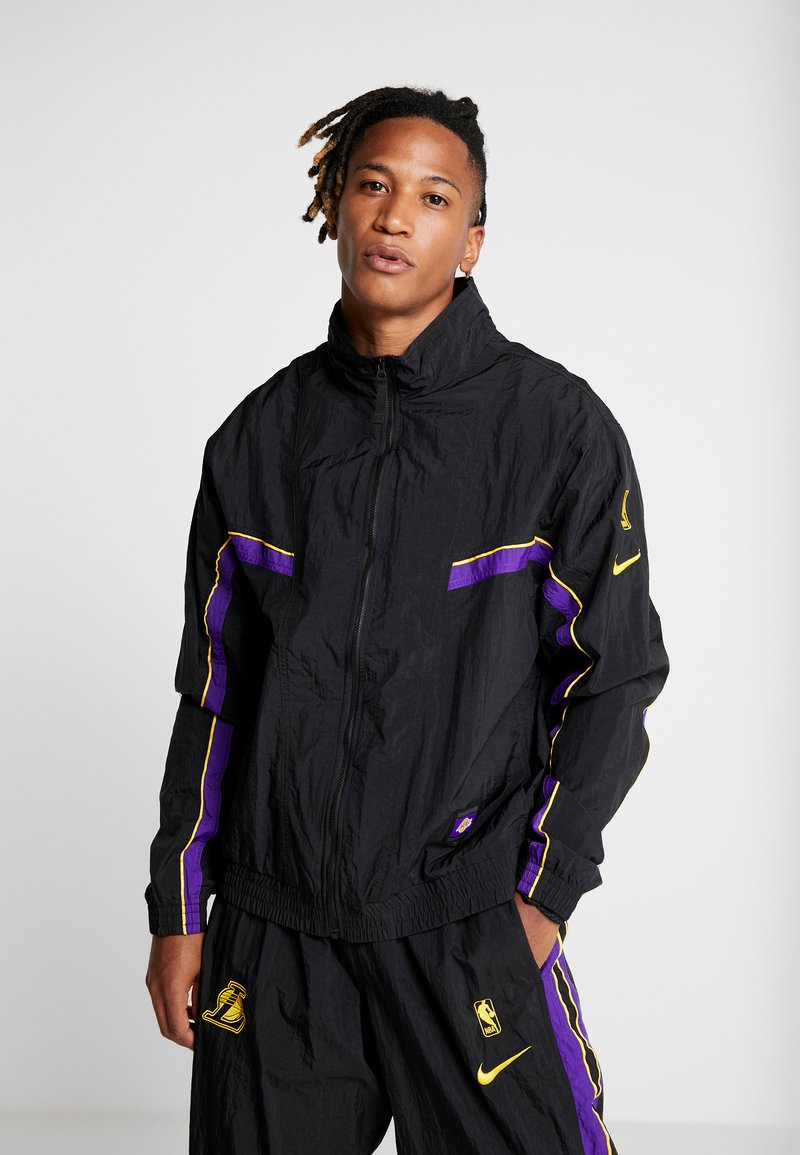 Nike Performance - NBA LA LAKERS RETRO TRACKSUIT - Article de supporter - black/field purple