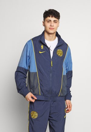 NBA GOLDEN STATE WARRIORS TRACKSUIT COURTSIDE - Club wear - thunder blue/university gold