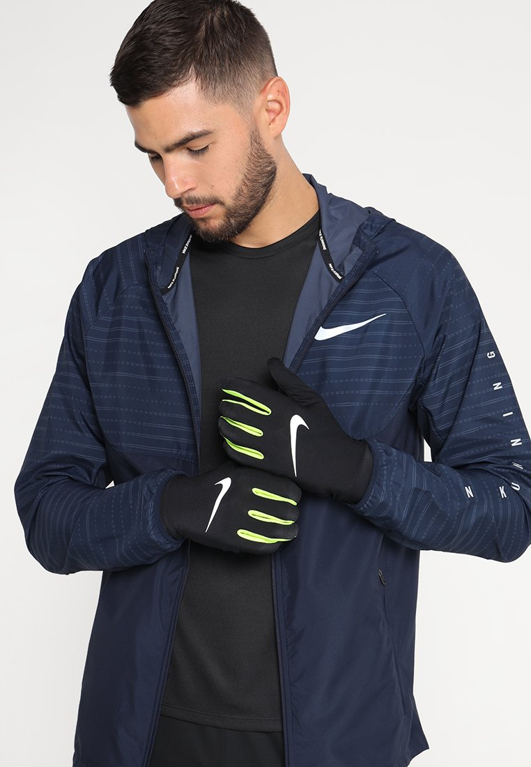 Nike Performance - LIGHTWEIGHT TECH GLOVES - Guantes - black/volt/silver
