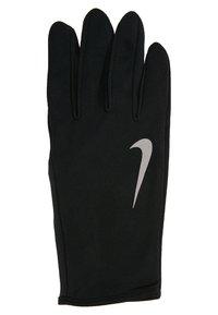 Nike Performance - MEN'S RUN DRY SET - Fingervantar - black/black/silver - 5
