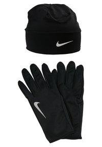 Nike Performance - MEN'S RUN DRY SET - Fingervantar - black/black/silver - 0