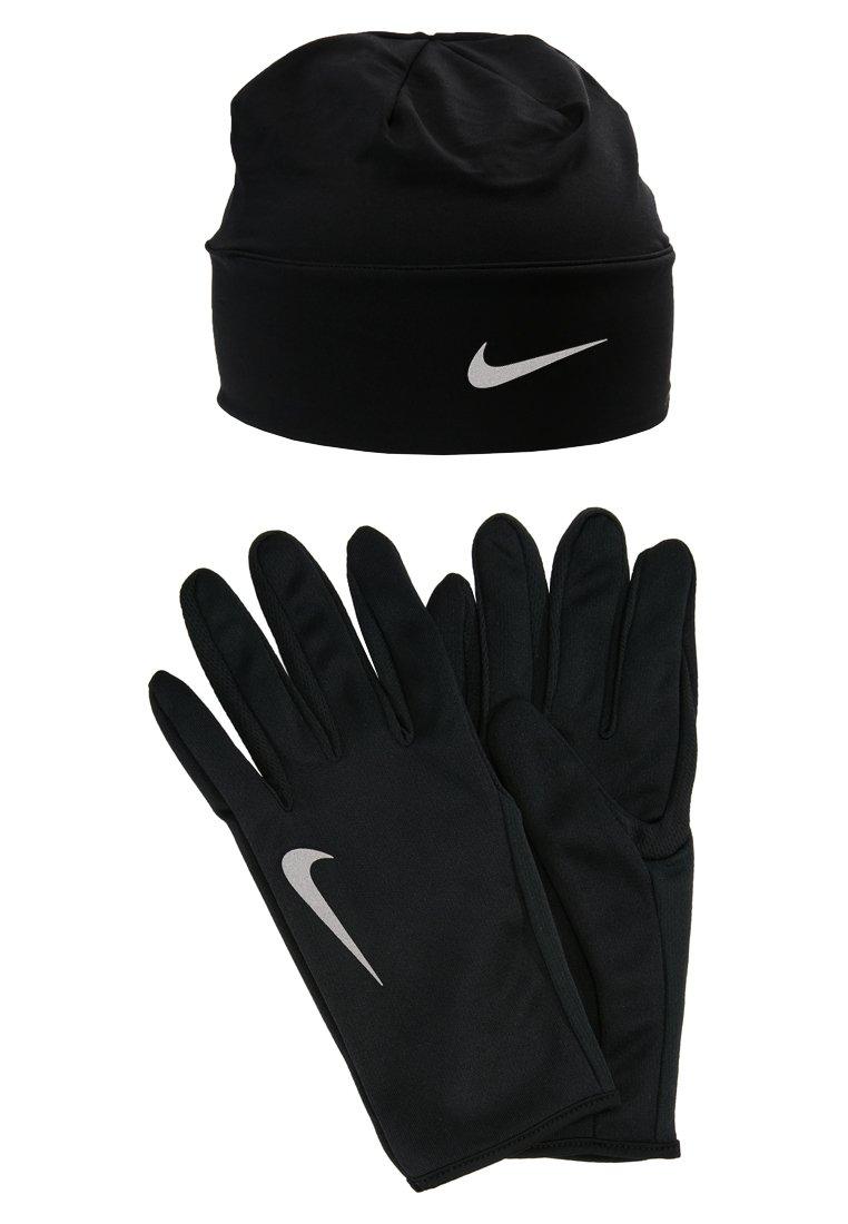 Nike Performance - MEN'S RUN DRY SET - Fingervantar - black/black/silver