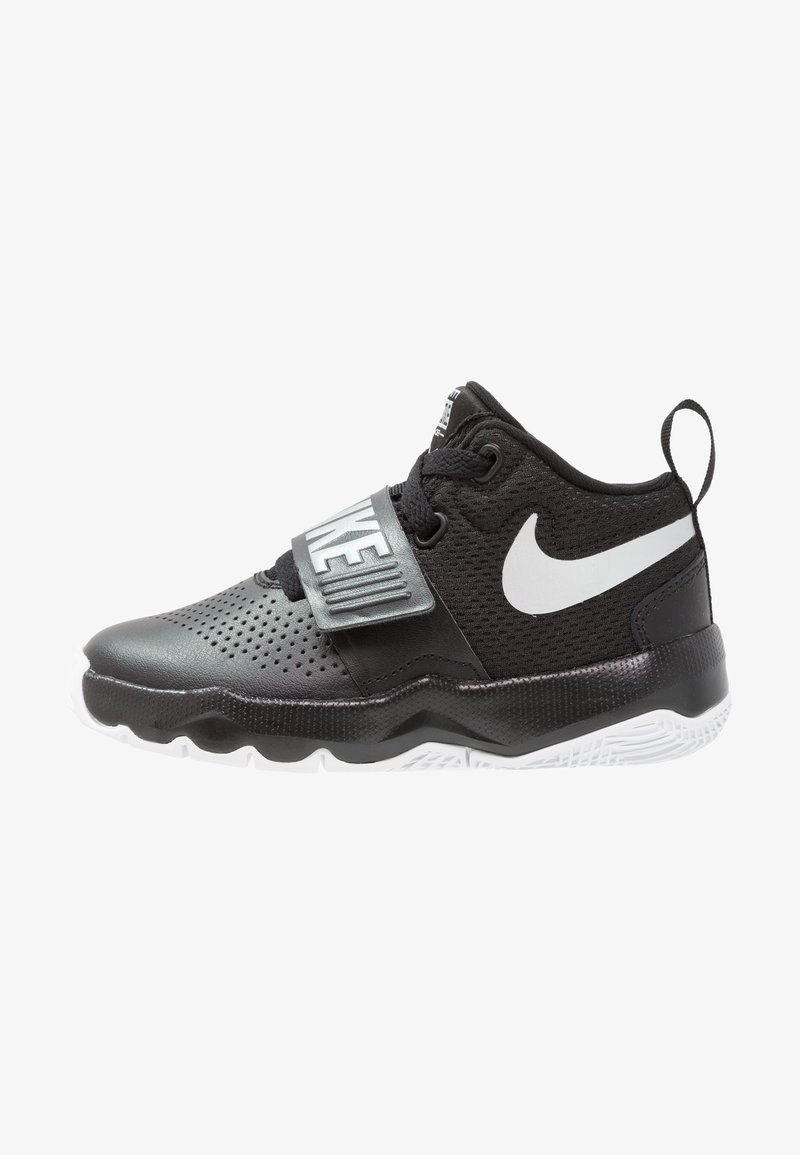 Nike Performance - TEAM HUSTLE D 8  - Basketbalschoenen - black/metallic silver/white