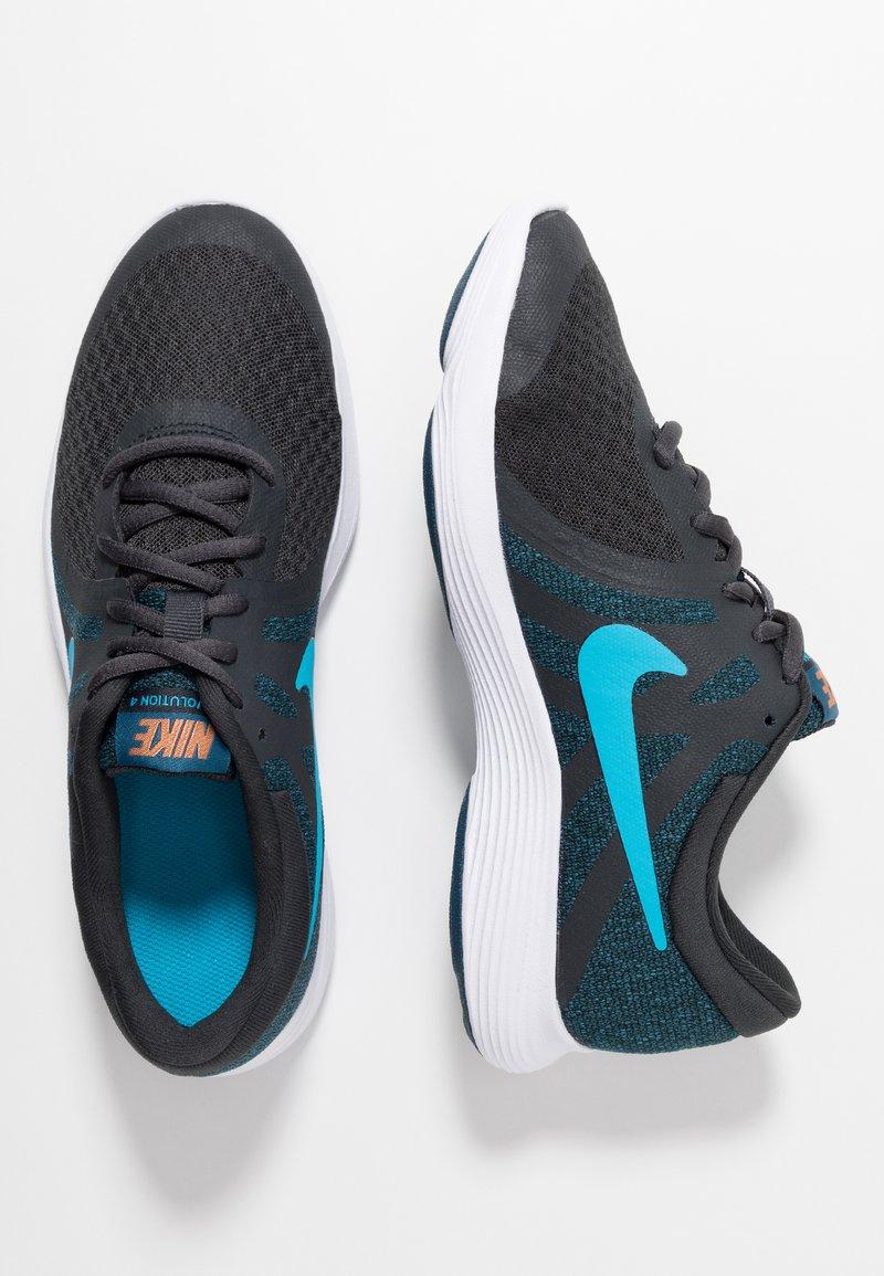Nike Performance - REVOLUTION 4 - Neutrala löparskor - off noir/light current blue/blue force/metallic copper