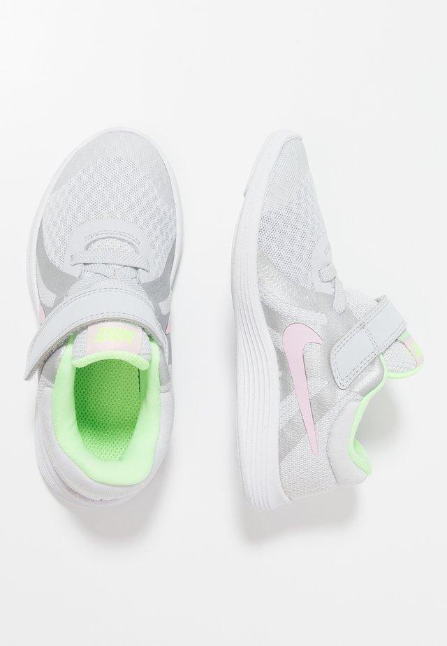 REVOLUTION 4 - Neutral running shoes - pure platinum/pink foam/platinum tint/lime blast