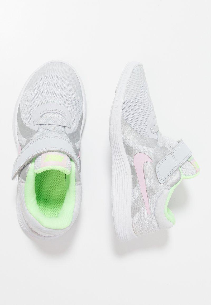 Nike Performance - REVOLUTION 4 - Neutral running shoes - pure platinum/pink foam/platinum tint/lime blast