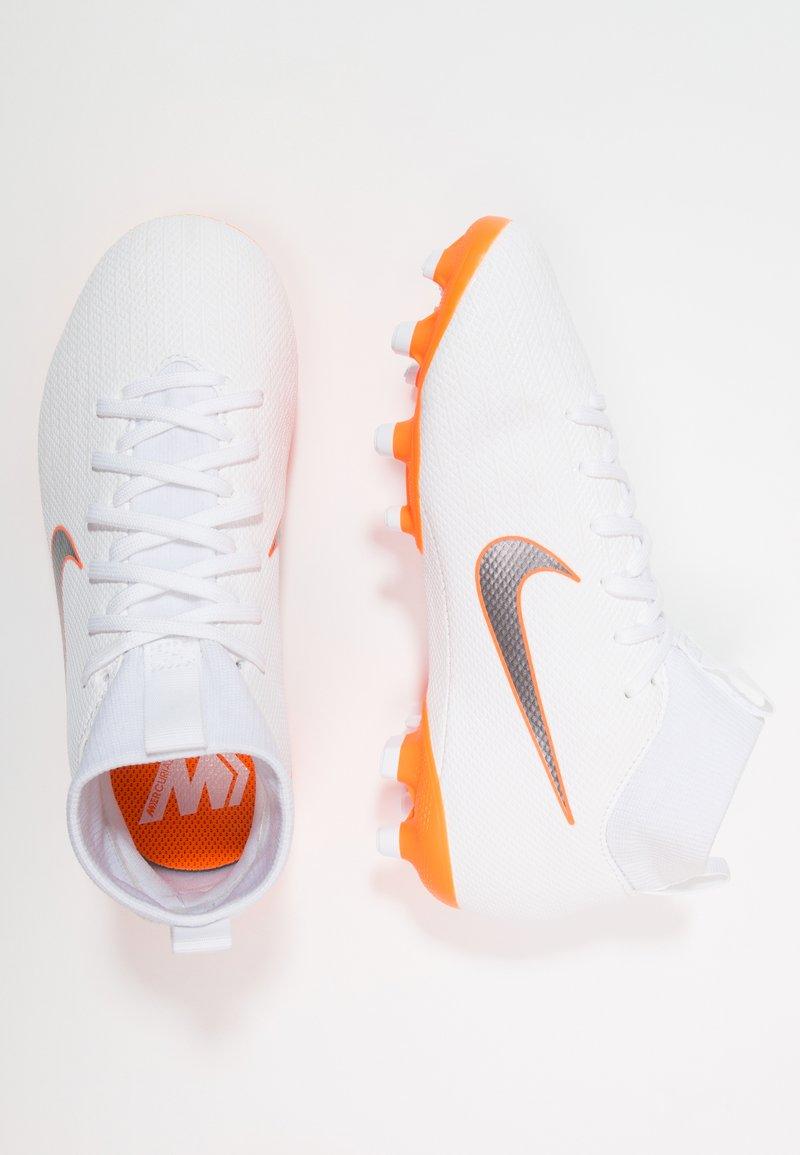 Nike Performance - MERCURIAL 6 ACADEMY MG - Fußballschuh Nocken - white/chrome/total orange