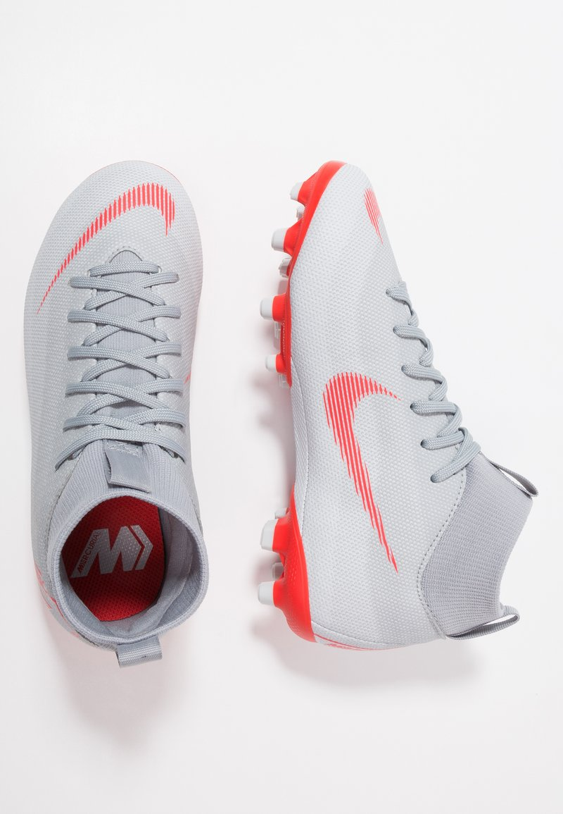 Nike Performance - MERCURIAL 6 ACADEMY MG - Fußballschuh Nocken - wolf grey/light crimson/pure platinum/metallic silver