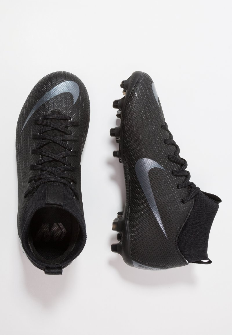 Nike Performance - MERCURIAL 6 ACADEMY MG - Fußballschuh Nocken - black/anthracite/black/light crimson