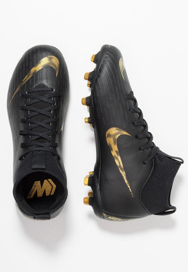 Nike Performance - MERCURIAL 6 ACADEMY MG - Moulded stud football boots - black/metallic vivid gold
