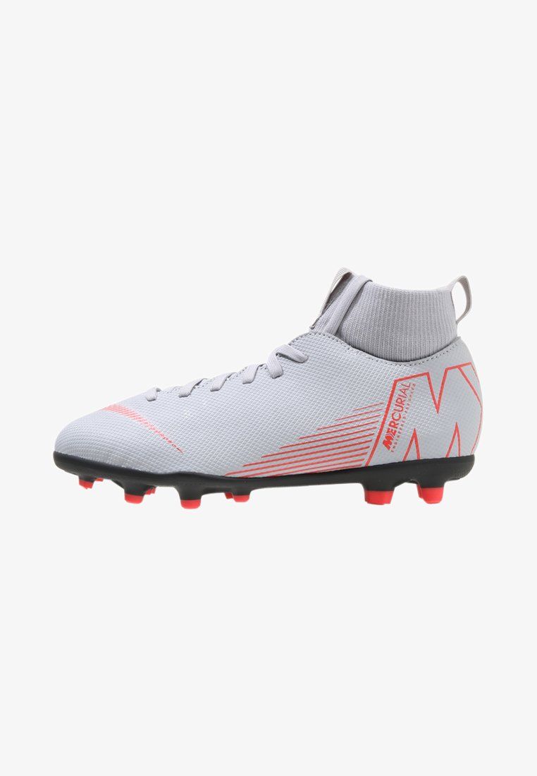 Nike Performance - CLUB MG - Fußballschuh Nocken - wolf grey/light crimson/black