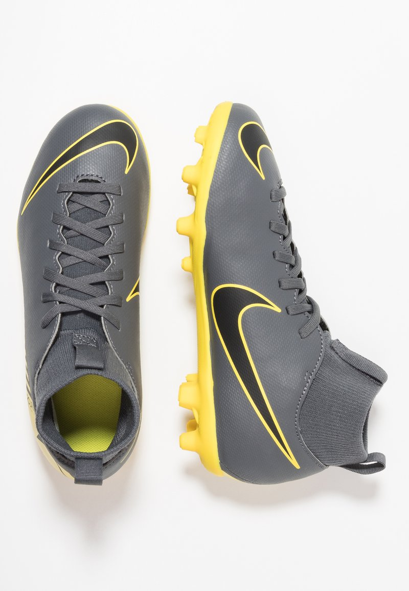 Nike Performance - CLUB MG - Fußballschuh Nocken - dark grey/black/opti yellow