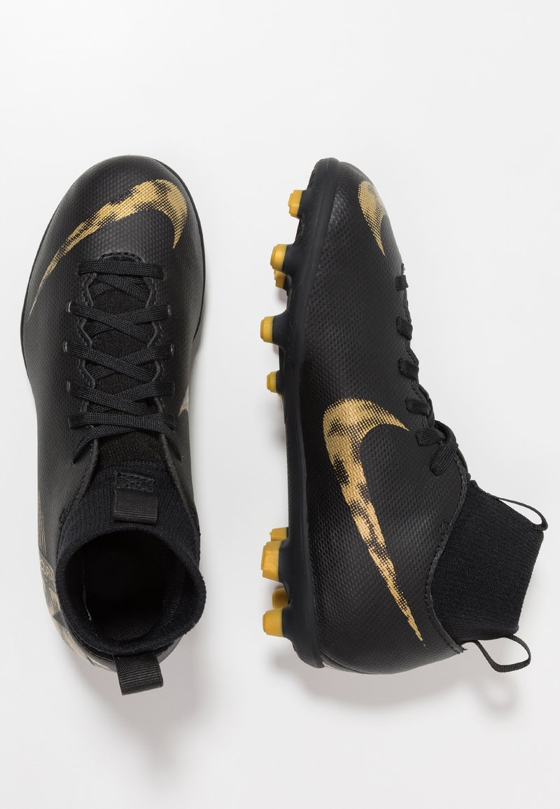Nike Performance - CLUB MG - Korki Lanki - black/metallic vivid gold