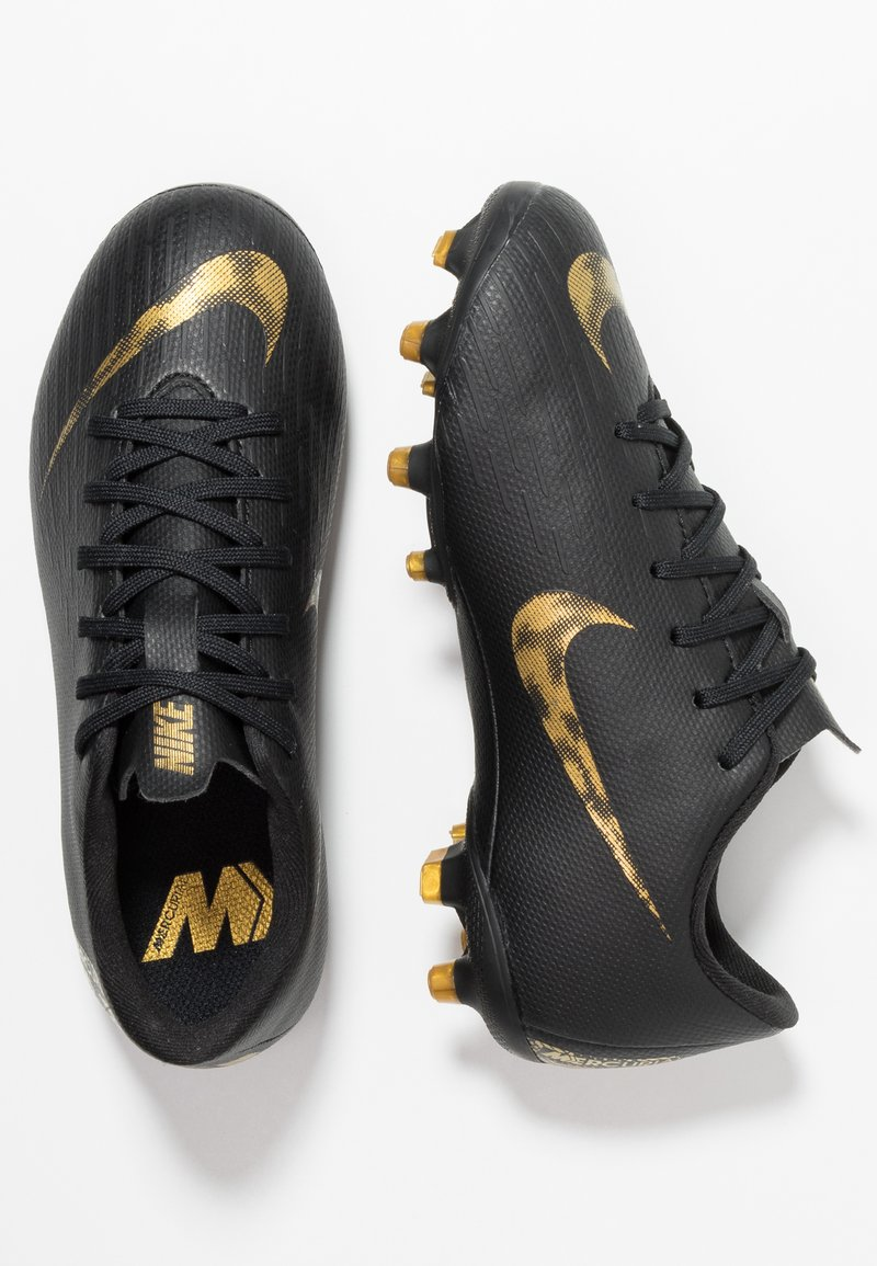 Nike Performance - MERCURIAL VAPOR 12 ACADEMY MG - Moulded stud football boots - black/metallic vivid gold
