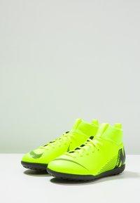 Nike Performance - MERCURIAL SUPERFLYX 6 CLUB TF - Korki Turfy - volt/black - 3