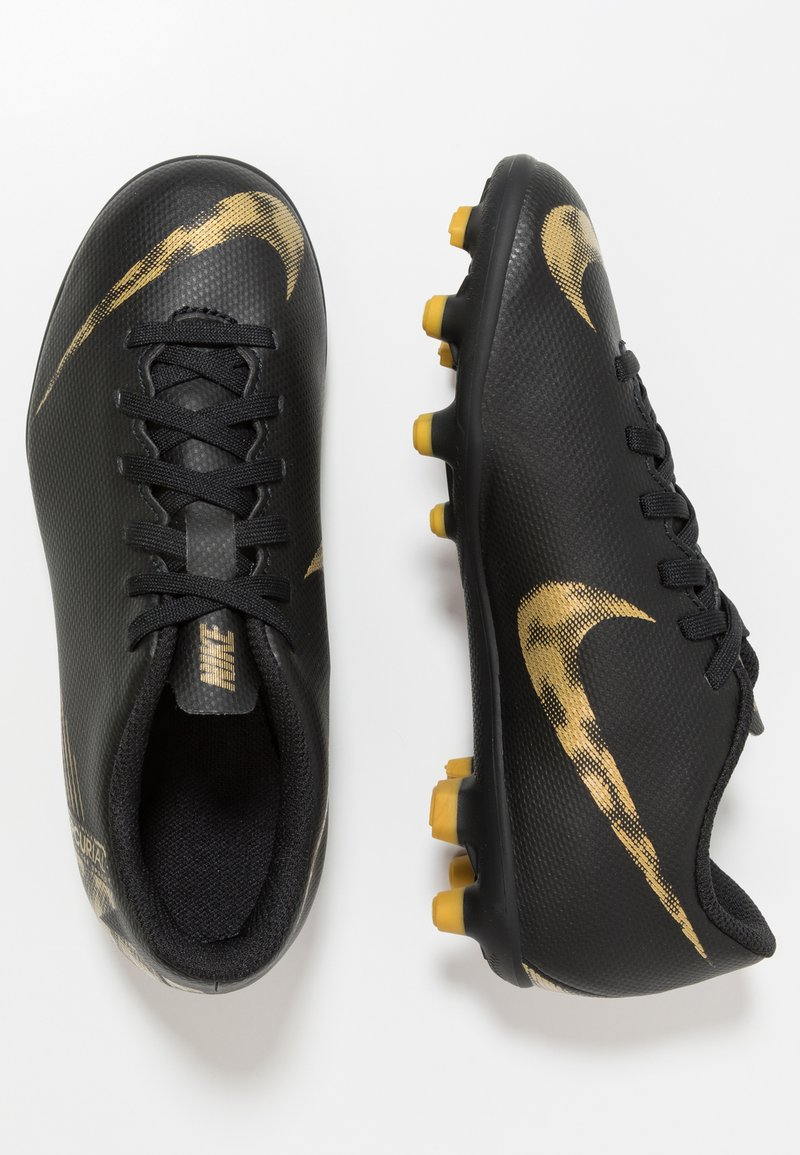 Nike Performance - MERCURIAL VAPOR 12 CLUB MG - Fußballschuh Nocken - black/metallic vivid gold