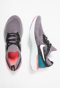 Nike Performance - EPIC REACT FLYKNIT - Neutral running shoes - gunsmoke/white/black/geode teal/hot punch - 0