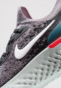 Nike Performance - EPIC REACT FLYKNIT - Neutral running shoes - gunsmoke/white/black/geode teal/hot punch - 2