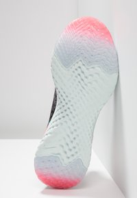 Nike Performance - EPIC REACT FLYKNIT - Neutral running shoes - gunsmoke/white/black/geode teal/hot punch - 5