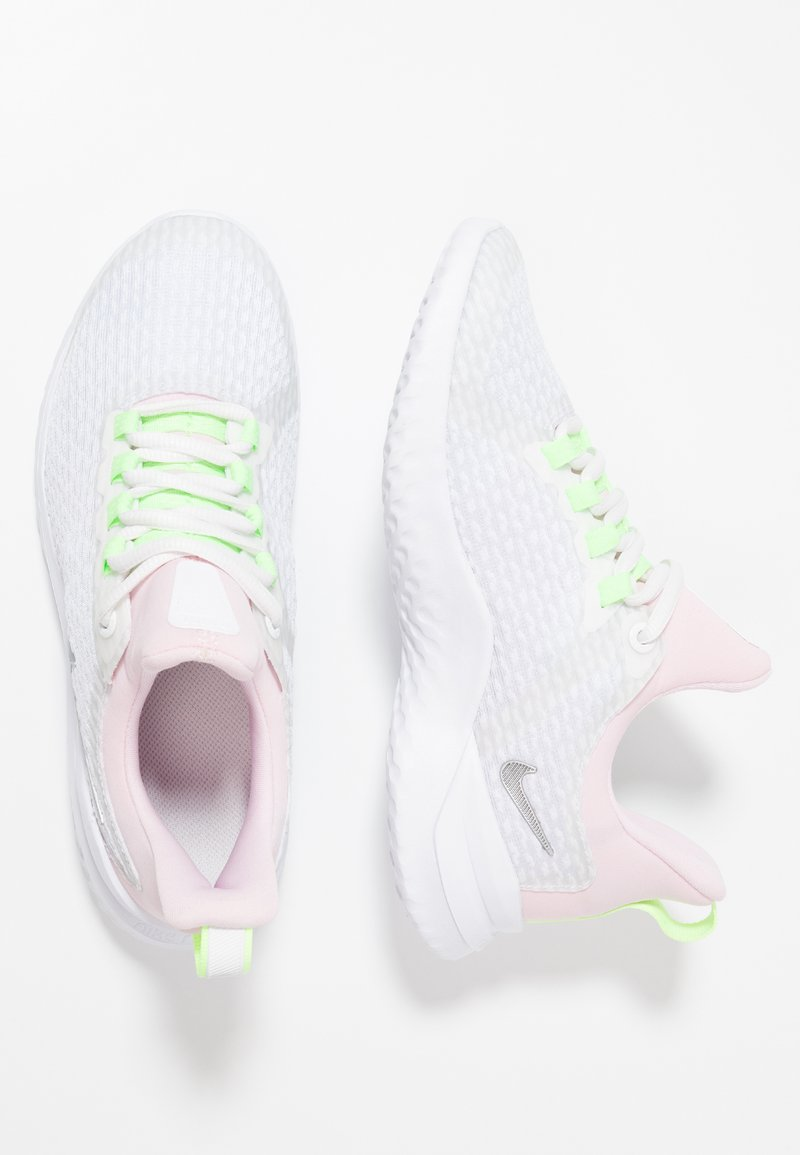 Nike Performance - RENEW RIVAL - Neutral running shoes - white/metallic silver/platinum tint