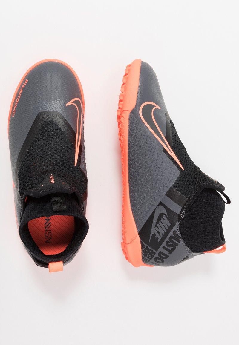 Nike Performance - PHANTOM OBRAX 3 ACADEMY DF TF - Korki Turfy - dark grey/bright mango/black