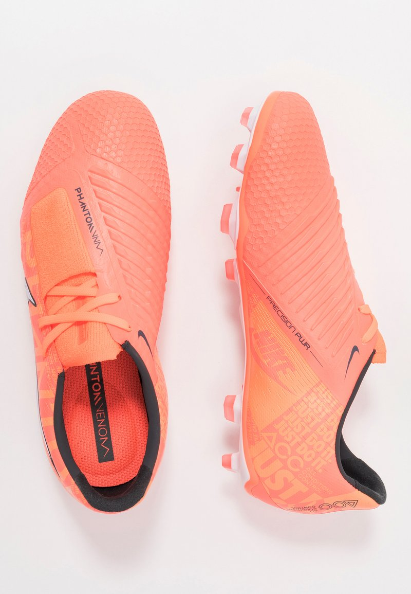 Nike Performance - PHANTOM ELITE FG - Voetbalschoenen met kunststof noppen - bright mango/white/orange/anthracite