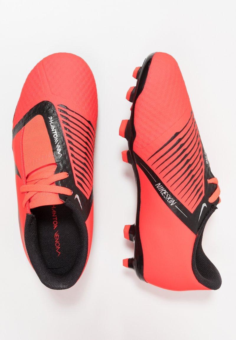 Nike Performance - NIKE JR. PHANTOM ACADEMY FG FUSSBALLSCHUH FÜR NORMALEN RASEN FÜR ÄLTERE KINDER - Voetbalschoenen met kunststof noppen - bright crimson/black/metallic silver