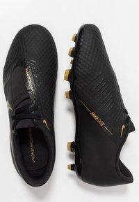 Nike Performance - PHANTOM ACADEMY FG - Voetbalschoenen met kunststof noppen - black/metallic vivid gold - 0