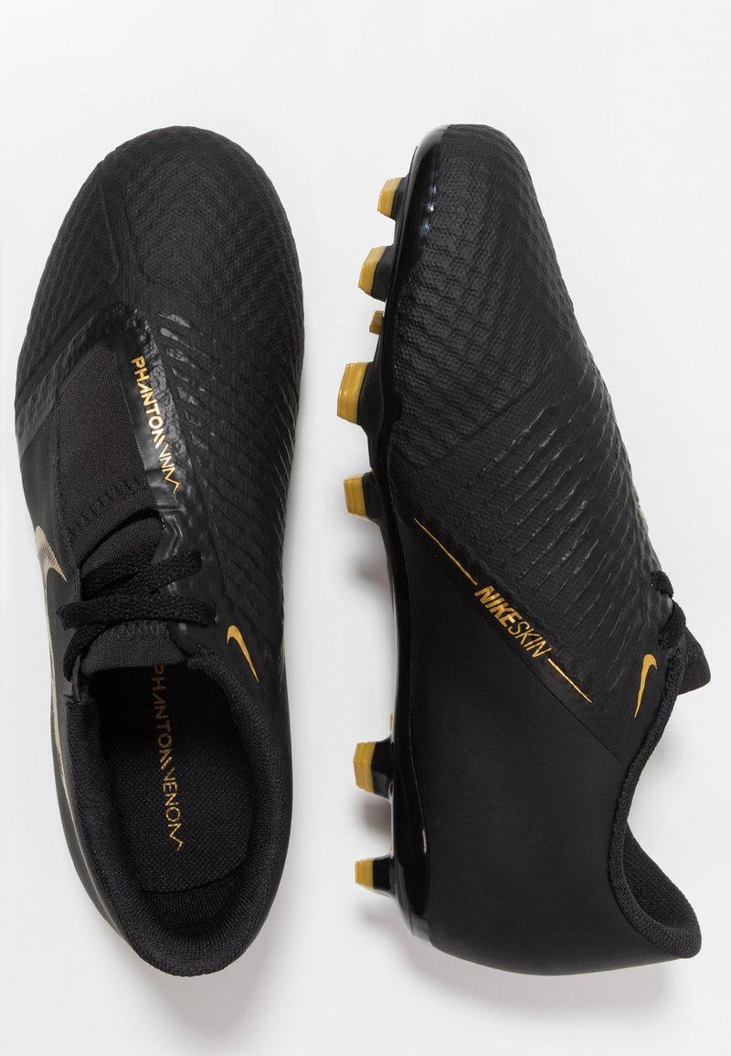 Nike Performance - PHANTOM ACADEMY FG - Voetbalschoenen met kunststof noppen - black/metallic vivid gold