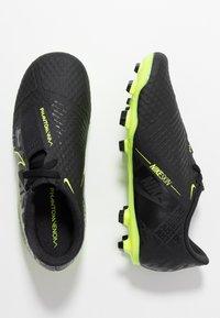 Nike Performance - NIKE JR. PHANTOM ACADEMY FG FUSSBALLSCHUH FÜR NORMALEN RASEN FÜR ÄLTERE KINDER - Botas de fútbol con tacos - black/volt - 0