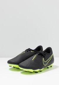 Nike Performance - NIKE JR. PHANTOM ACADEMY FG FUSSBALLSCHUH FÜR NORMALEN RASEN FÜR ÄLTERE KINDER - Botas de fútbol con tacos - black/volt - 3