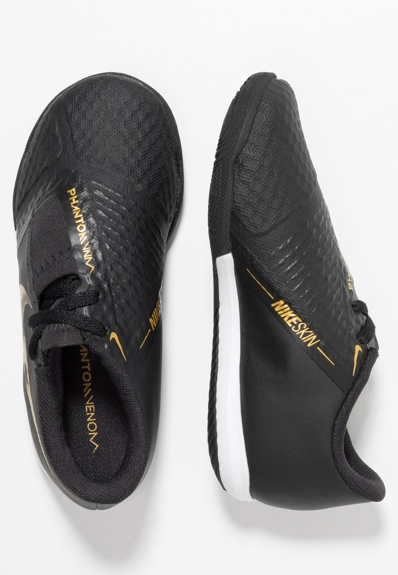 Nike Performance - PHANTOM ACADEMY IC - Fußballschuh Halle - black/metallic vivid gold