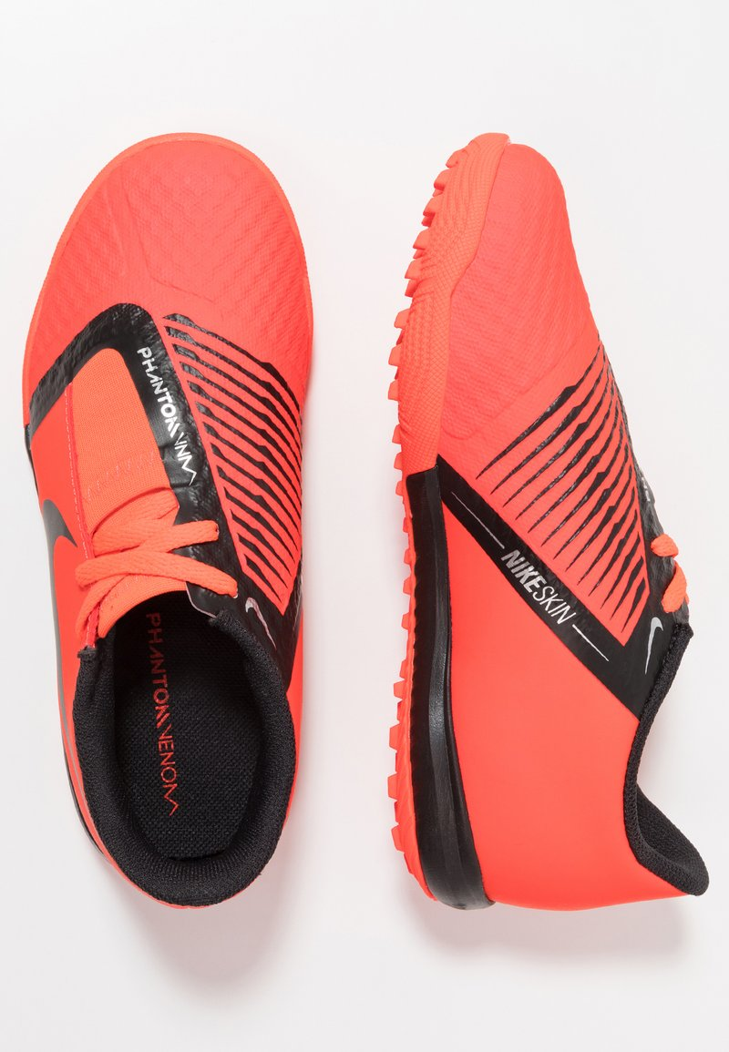 Nike Performance - PHANTOM ACADEMY TF - Fußballschuh Multinocken - bright crimson/black/metallic silver