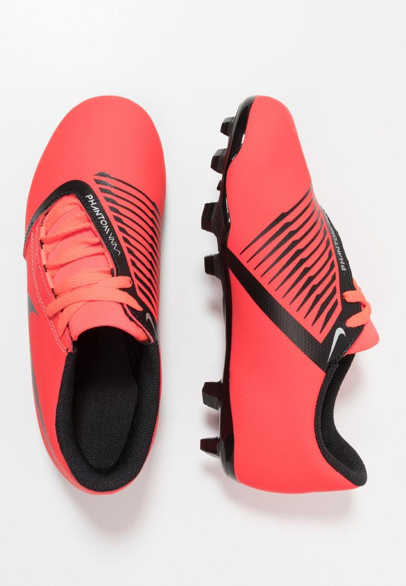 Nike Performance - PHANTOM CLUB FG - Moulded stud football boots - bright crimson/black/metallic silver