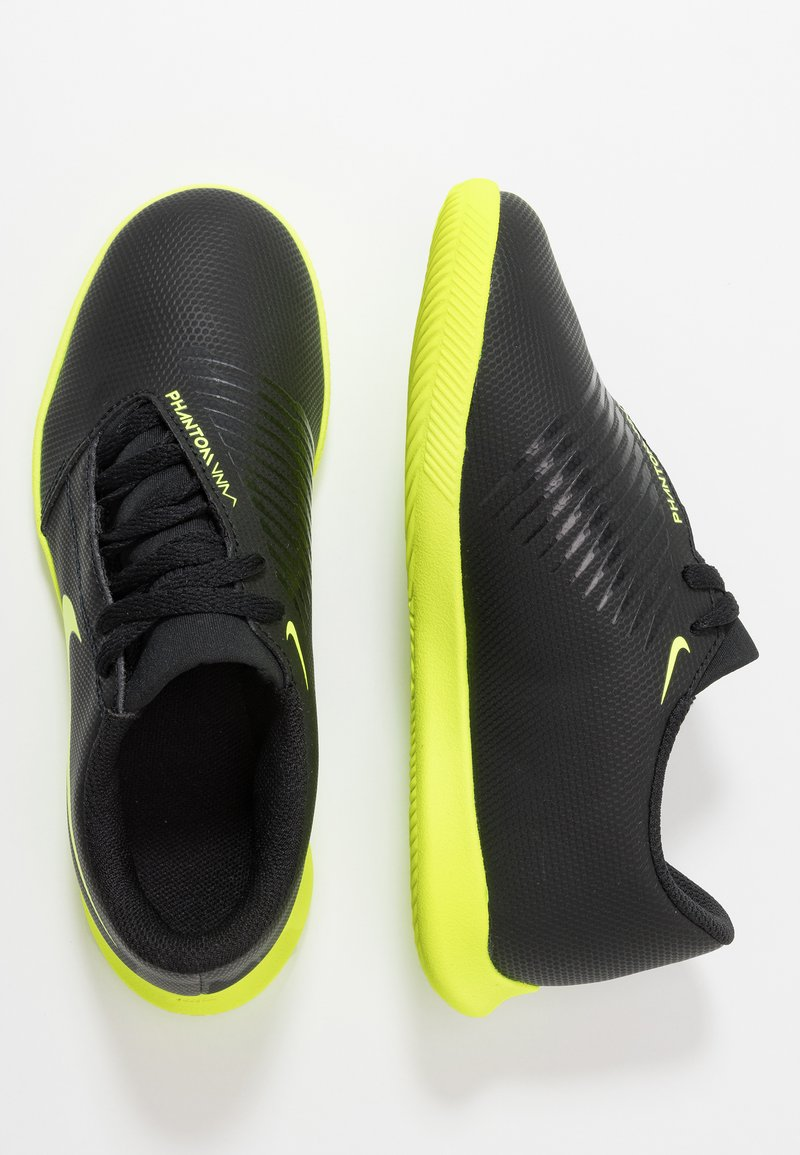 Nike Performance - PHANTOM CLUB IC - Fotbollsskor inomhusskor - black/volt
