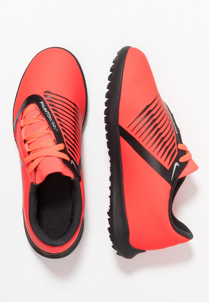 Nike Performance - PHANTOM CLUB TF - Astro turf trainers - bright crimson/black/metallic silver