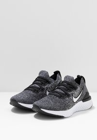 Nike Performance - EPIC REACT FLYKNIT 2 - Chaussures de running neutres - black/white - 3